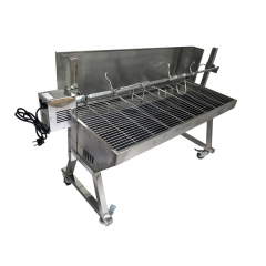BBQ Grill Natural Heavy Duty Pig Roaster Machine Barbecue Grills