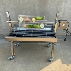 Portable BBQ Whole Pig, Lamb, Goat Charcoal Spit Rotisserie Roaster Grill, 187 lbs