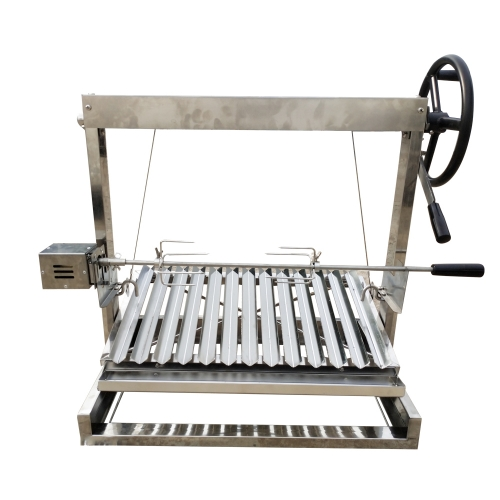 Built in/Table Top Charcoal Outdoor BBQ, Stainless Steel Parrilla Santa Maria/Argentine Grill Spit