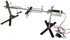 Outdoor Portable Stainless Steel Rotisserie Tripod Spit Kit Camping Stands Grill