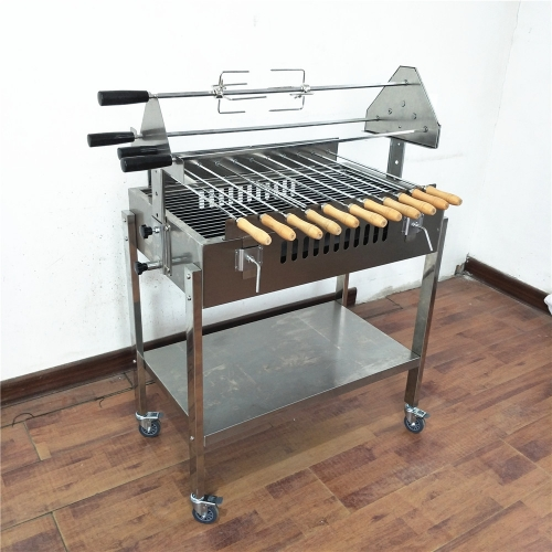 Automatic Foukou Cypriot Chicken Cyprus Rotating bbq Machine Grill