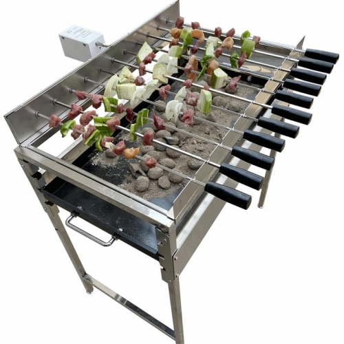 Adjustable Charcoal Pan BBQ  Grill